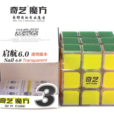 Кубик рубик 3x3 OiYi MoFangGe SAIL 60 mm прозрачный