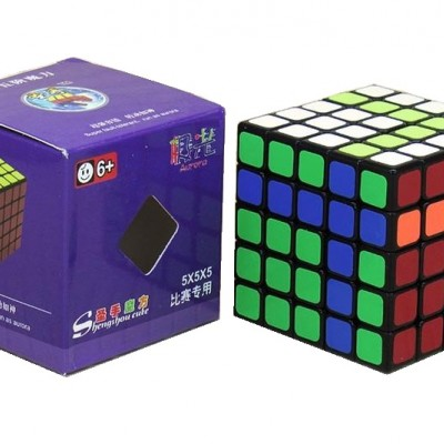 Кубик рубик 5x5 ShengShou Aurora (PVC sticker, black)