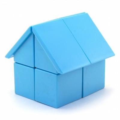 Кубик рубик 2х2 YJ HOUSE blue / pink (голубой / розовый ДОМИК)