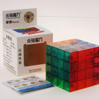 Кубик рубик 4х4 YJ YUSU R transparent (прозрачный)