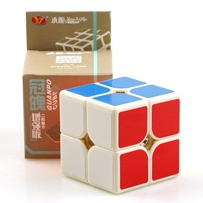 Кубик рубик 2х2 MoYu GuanPo Update Version white (белый)